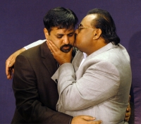 Mustafa Kamal with Altaf Hussain